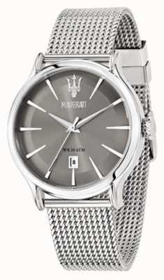 Maserati Epoca 42mm graues Zifferblatt | stahlgeflecht armband | R8853118002