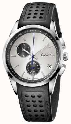 Calvin Klein Mens schwarzes Band weißes Zifferblatt K5A371C6