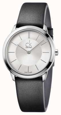 Calvin Klein Mens minimal silbernes Zifferblatt K3M221C6