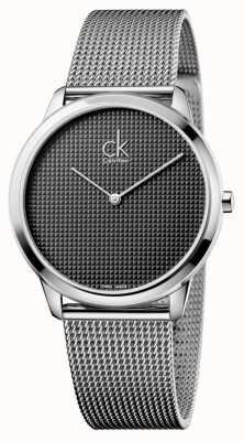 Calvin Klein Mens minimal Silbergeflecht Uhr K3M2112X