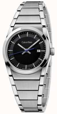 Calvin Klein Damen Schritt beobachten schwarzes Zifferblatt K6K33143