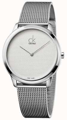 Calvin Klein Minimale Milanaisearmband weißes Zifferblatt K3M2112Y