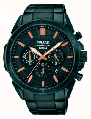 Pulsar Mens schwarzes Zifferblatt schwarz Edelstahlarmband PT3765X1
