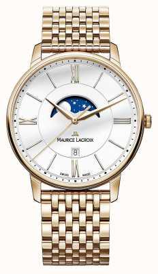 Maurice Lacroix Mens eliros vergoldet Mondphase Uhr EL1108-PVP06-112-1