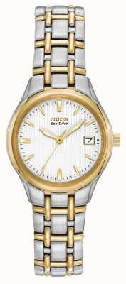 Citizen Damen zwei Ton-Edelstahl-Gehäuse und Armband EW1264-50A