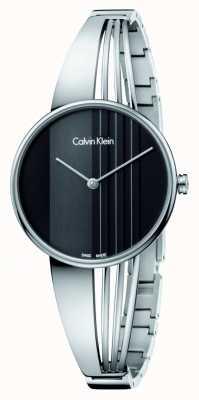 Calvin Klein Drift Uhr mit schwarzem Zifferblatt K6S2N111
