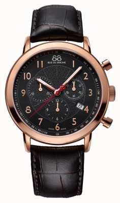 88 Rue du Rhone Herren schwarz Roségold Uhr schwarzes Zifferblatt 87WA120050