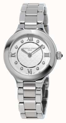 Frederique Constant Damenklassiker begeistern diamantbesetzter Edelstahl FC-200WHD1ER36B