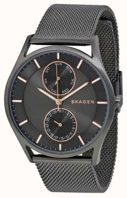 Skagen Mens holst gun metal PVD beschichtet SKW6180