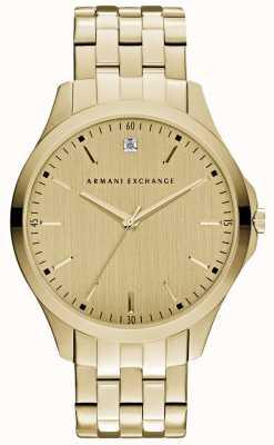 Armani Exchange Mens hampton schlankes Gold Wahl AX2167