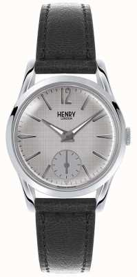 Henry London Womans grau Zifferblatt grau Lederband HL30-US-0073