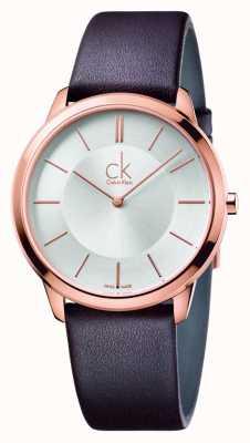 Calvin Klein Minimales braunes Lederband für Damen K3M216G6