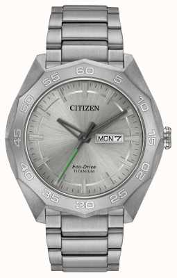 Citizen Herren Titan Armband Silber Zifferblatt AW0060-54A