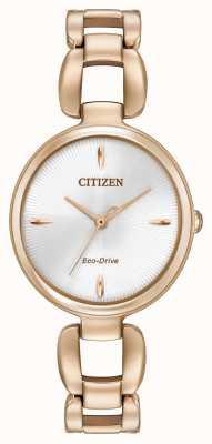 Citizen Frauen Roségold pvd Armband vergoldet EM0423-56A