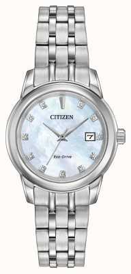 Citizen Damen 11 Diamant-Edelstahlarmband Perlmutt EW2390-50D