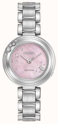 Citizen Damen Eco-Drive sechs Diamanten rosa Wahl WR50 EM0460-50N