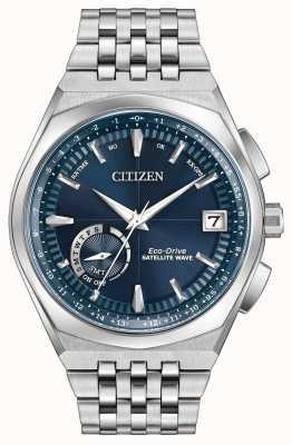 Citizen Satelliten-Welle Welt Zeit-GPS-blaues Zifferblatt CC3020-57L