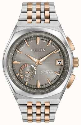 Citizen Mens Eco-Drive-Satelliten-Welle gps zwei Ton CC3026-51H