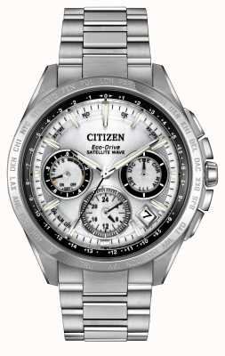 Citizen Mens Eco-Drive-Silber-Satelliten Welle F900 CC9010-74A