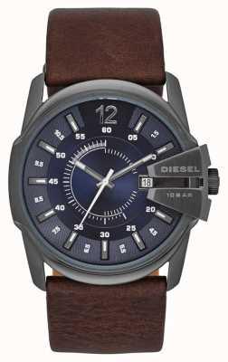 Diesel Master Chef blau Zifferblatt braun Lederband DZ1618