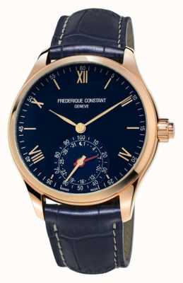 Frederique Constant Horological Smartwatch blau Roségold bluetooth FC-285N5B4