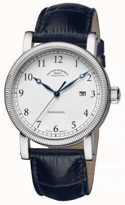 Muhle Glashutte Teutonia iii Handaufzug Lederband weißes Zifferblatt M1-08-01-LB