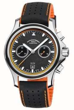Muhle Glashutte Promare Chronograph synthetisches Band Carbon-Zifferblatt M1-42-04-NB