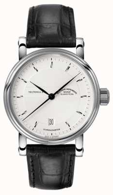 Muhle Glashutte Teutonia II Chronometer Lederband Silberzifferblatt M1-30-45-LB