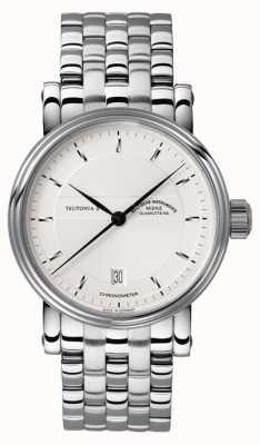 Muhle Glashutte Teutonia II Chronometer Edelstahlband Silber Zifferblatt M1-30-45-MB