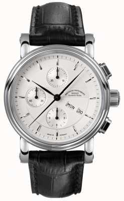 Muhle Glashutte Teutonia II Chronograph Lederband Silber Zifferblatt M1-30-95-LB