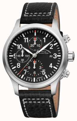 Muhle Glashutte Terra i Chronograph Lederband Zifferblatt schwarz M1-37-74-LB