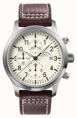 Muhle Glashutte Terra i Chronograph Lederband Creme Wahl M1-37-77-LB