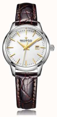 Dreyfuss Damen Swiss Made Uhr mit braunem Armband DLS00125/02