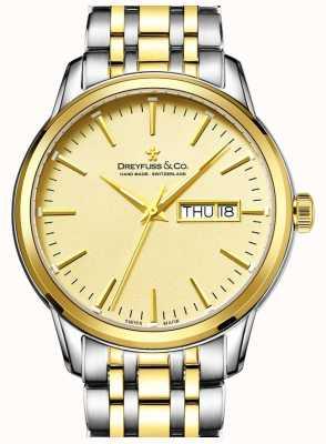 Dreyfuss Herren dreyfuss Gold mit zwei Tönen 1890 Uhr DGB00126/03