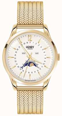 Henry London Mens Moonphase Gold Pvd überzogen HL39-LM-0160