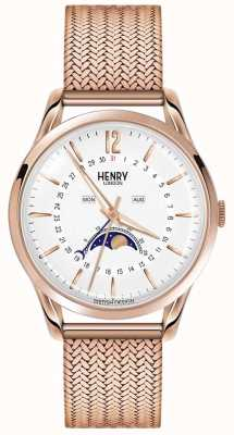 Henry London Mens Moonphase Roségold pvd überzogen HL39-LM-0162