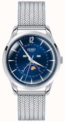 Henry London Mens Moonphase Edelstahl HL39-LM-0085