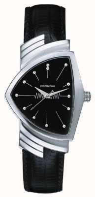Hamilton Herren Ventura Quarz schwarz Lederband schwarz Zifferblatt H24411732
