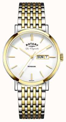 Rotary Mens les originales windsor two tone GB90154/01