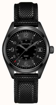 Hamilton Herren Khaki Feld schwarz Material schwarzes Zifferblatt H68401735