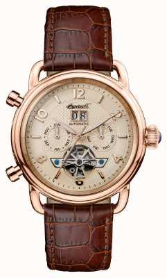 Ingersoll Herren 1892 das neue england braune Lederband I00901