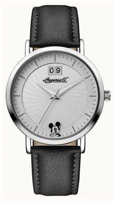 Disney By Ingersoll Womens Union der Disney schwarzen Lederarmband ID00501