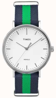 Timex Unisex weekender fairfax navy grün strap TW2P90800