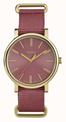 Timex Unisex-Rosen-Zifferblatt rosa Stoffband TW2P78200