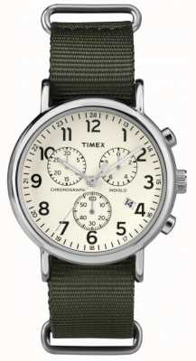 Timex Unisex Weekender Chronograph Creme Wahl TW2P71400