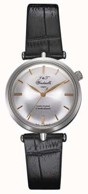 J&T Windmills Womans THREADNEEDLE mechanische Uhr Silber Rotgold WLS10001/06