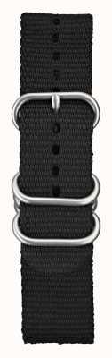 Elliot Brown Mens 22mm schwarze ballistische Nylon gebürstete Hardware STR-N03