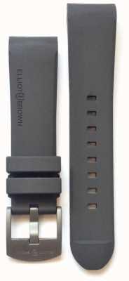 Elliot Brown Mens 22mm grauer Gummi Stahl Zunge Schnalle STR-R02