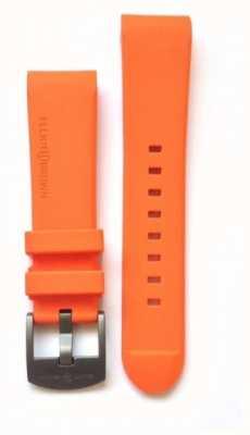 Elliot Brown Herren 22 mm orangefarbener Kautschuk-Stahl-Zungenschnallenriemen nur STR-R05