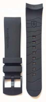 Elliot Brown Nur 22 mm schwarzes Kautschukarmband mit schwarzer Schnalle für Herren STR-R08